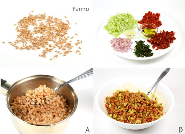 Farro with Cucumber & Sun-dried Tomatos